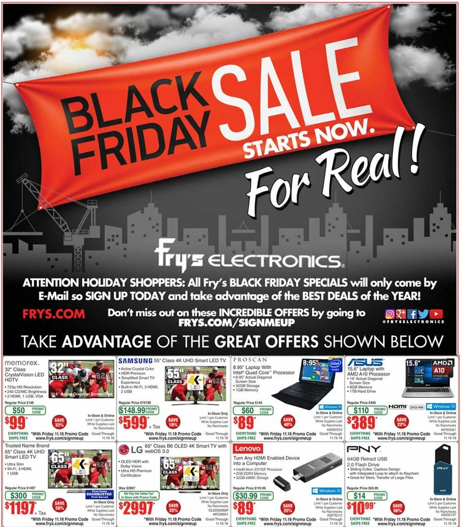 Frys Black Friday page 1